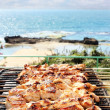Barbecues on the sea — Stock Photo