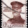 Stock Photo: Stamp With General John J. Pershing