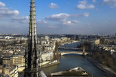 Aerial view of Paris — Stockfoto