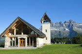 Chapel in the mountains of Switzerl — Stock Photo