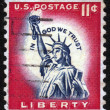 Statue of Liberty on US vintage postmark — Stock Photo #11435923