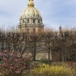 view of les invalides in paris — Stock Photo