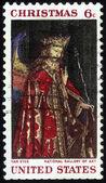 Engel Gabriel aus der Verkündigung, jan van Eyck — Stockfoto