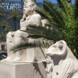 Las Vegas - Egyptian statue in front of Luxor Hotel — Stock Photo #11641636