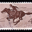 100 yrs of the Pony Express — Stock Photo