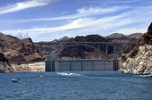 Hoover Dam and Colorado River Bridge — Stock Photo