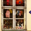 Window of the toy shop — Stock Photo