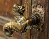 Vintage door handle — Stock Photo