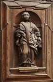 Drewniana figura vintage — Zdjęcie stockowe