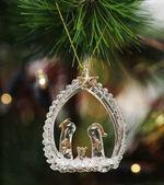 Weihnachten Spielzeug auf Tanne — Stockfoto