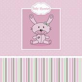 Pink stuffed rabbit — Stock Vector