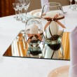 Table setting for wedding dinner — Stock Photo #11436055