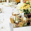 Table setting for wedding dinner — Stock Photo #11436425