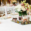 Table setting for wedding dinner — Stock Photo #11436487