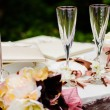 Wedding wineglasses — Stock Photo #11436669