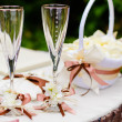 Wedding wineglasses - Stock Photo
