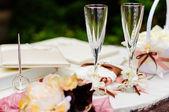 свадебные бокалы — Стоковое фото