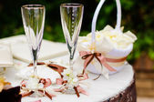 Wedding wineglasses — Stock Photo