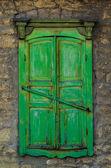 Old closed window — Stock Photo