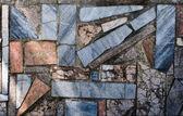 Mosaik-stein-wand — Stockfoto