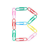 Letter B made with clips — Stock Photo