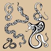 Anno serpenti simbolo — Vettoriale Stock