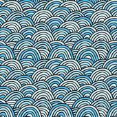 Fondo del mar. ilustración de vectores dibujados a mano — Vector de stock