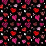 Love pattern vector background — Stock Vector
