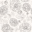 Flowers background. Seamless pattern — Stock Vector