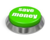 Button save money — Stock Photo