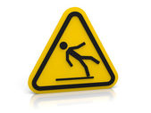 Slippery floor sign — Stock Photo