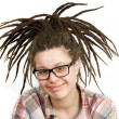 Young woman with dreadlocks wearing glasses — Stock Photo #10750517