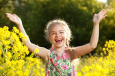 Little girl having fun — Stock Photo