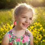 Naughty little girl — Stock Photo