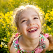 Portrait of a cheerful little girl — Stock Photo