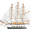 Copy of an old sailing ship - Stock Photo
