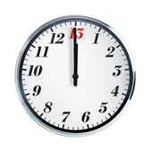 Wall clock on a white background — Stock Photo
