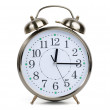 Foto Stock: Alarm clock in metal case