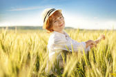 Happy boy with a hat — Stock Photo