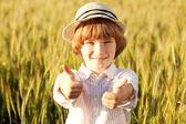 Niño en el sombrero — Foto de Stock
