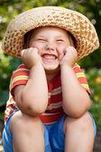 Boy in a sombrero — Stock Photo