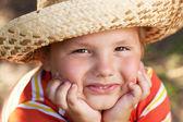 棕色眼睛的男孩 — 图库照片