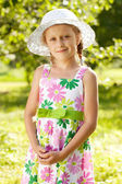 Lovely blonde girl in a hat — Stock Photo