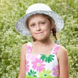 Charming blonde girl in the hat — Stock Photo #12186598