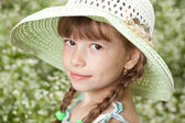 Girl with pigtails — Stock Photo