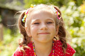 Girl with a big smile — Stock Photo