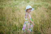 Girl in summer dress — Stock Photo