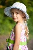 Beautiful blue-eyed little girl — Stock Photo