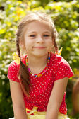 Portrait of a smiling little girl — Stock Photo