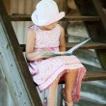 Little girl in panama — Stock Photo
